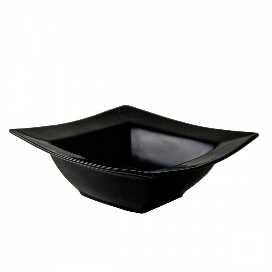 Ten Strawberry Street WTR-7SQRBWL(BLK) 7 1/4 inch 12 oz. Whittier Black Square Rim Bowl - 24 / Case