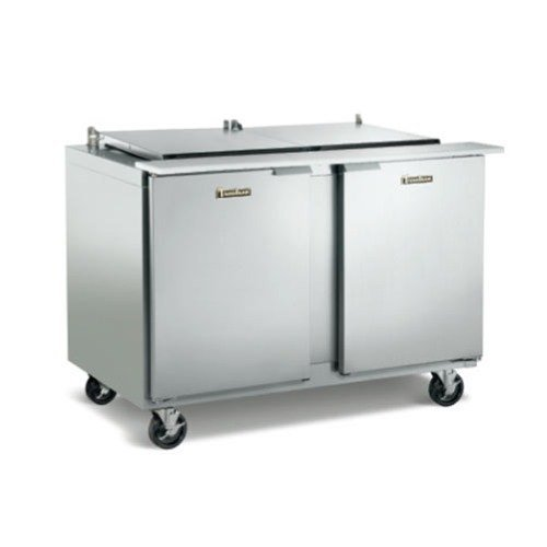 "Traulsen UPT7224-LL 72"" Sandwich / Salad Prep Table with Left / Left Hinged Doors"