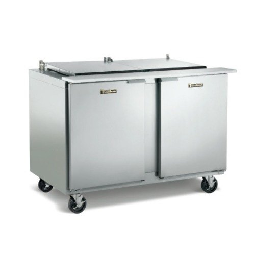 Traulsen UST7230-RR-SB 72 inch 30 Pan Compact Sandwich / Salad Prep Table with Left / Left Hinged Doors and Stainless Steel Back