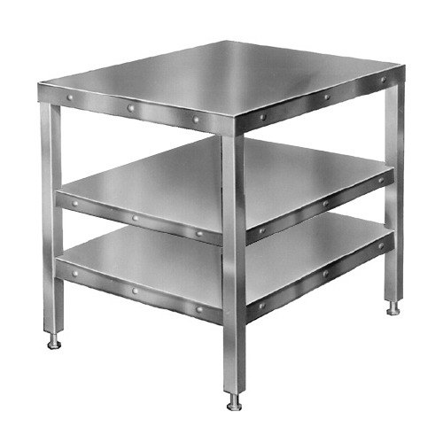 "Hobart CUTTER-TABLE4 27"" x 32"" Table with 2 Shelves for Food Cutters"