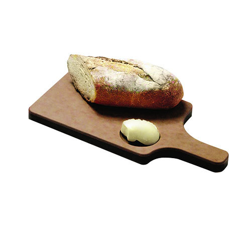 "San Jamar TC7503 8 1/2"" x 6 1/2"" x 3/4"" Tuff-Cut Bread Board with Handle and Butter Well"