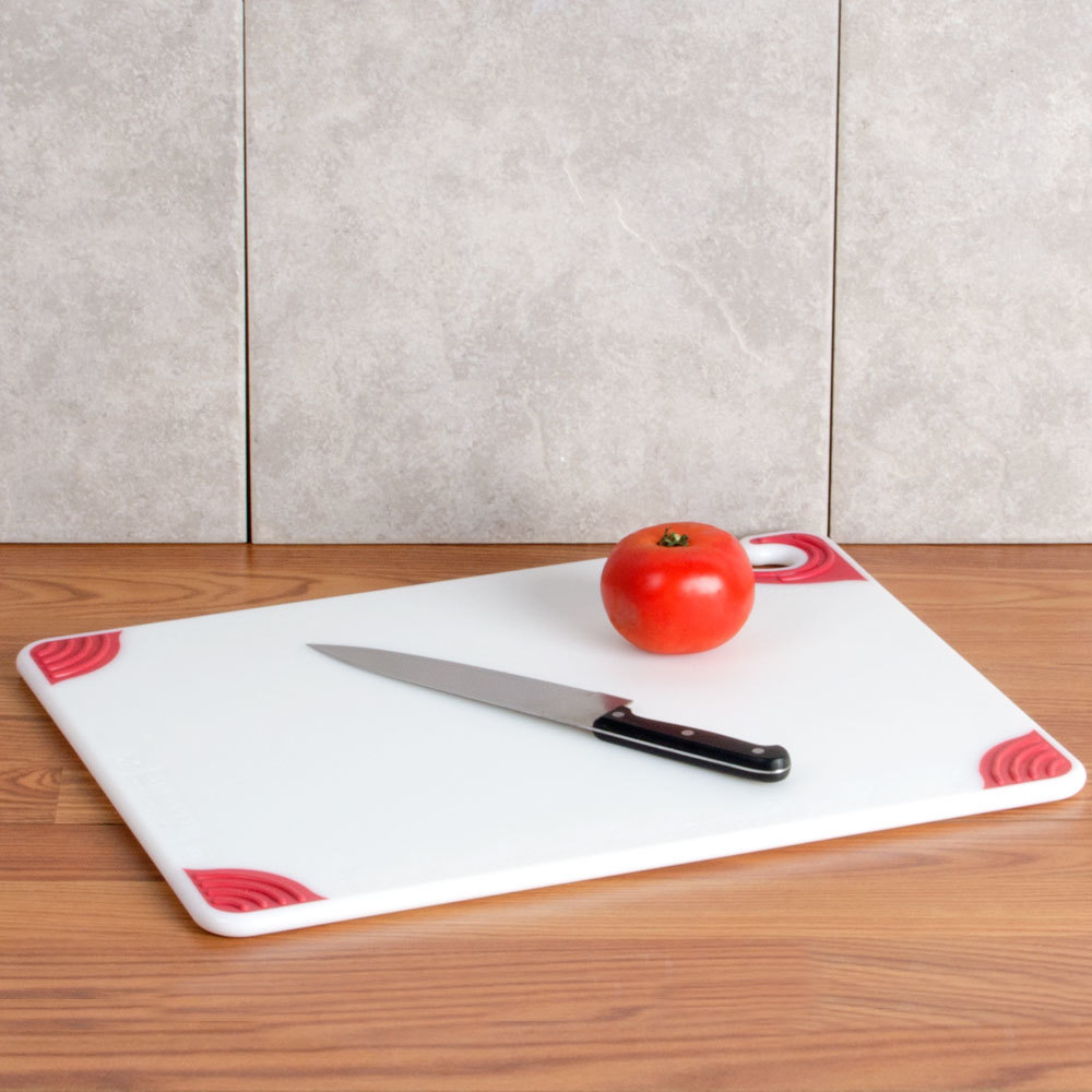 San jamar cbgw152012rd 15 x 20 x 1 2 saf t grip white for White cutting board used for