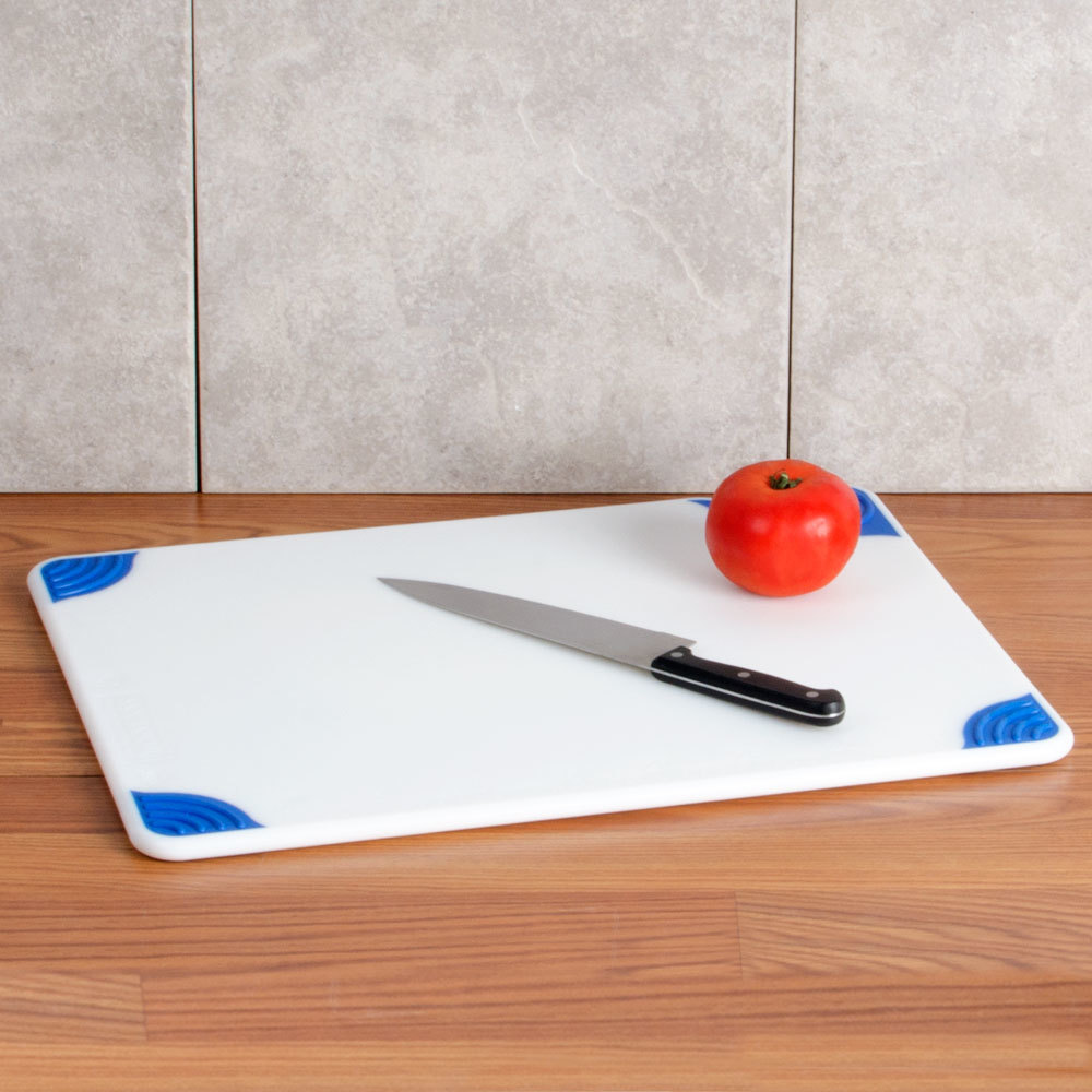 San jamar cbgw152012bl 15 x 20 x 1 2 saf t grip white for White cutting board used for