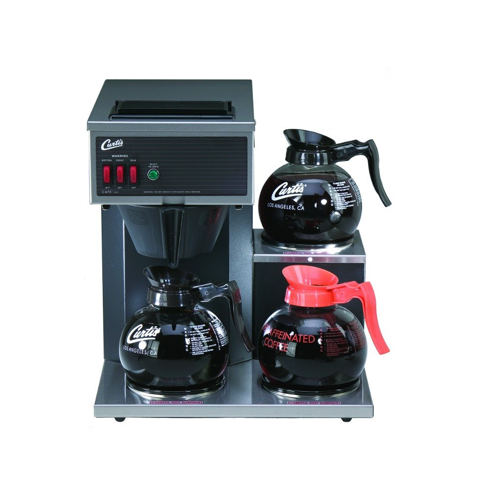 Wilbur Curtis Curtis CAFE3DB10A000 12 Cup Pourover Coffee Brewer with 1 Upper and 2 Lower Warmers - 120V at Sears.com
