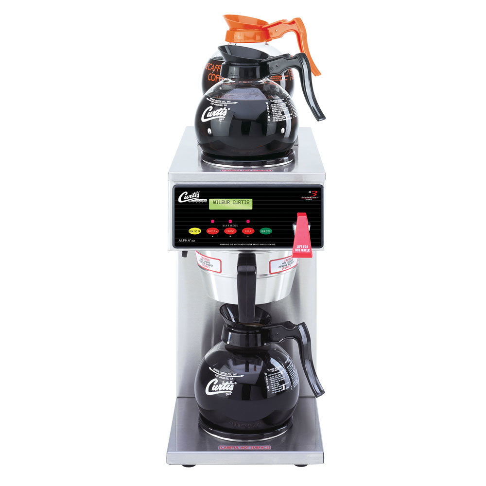 Curtis ALP3GT63A800 Automatic FreshTrac Coffee Brewer with 1 Lower and 2 Upper Warmers - 120/220V