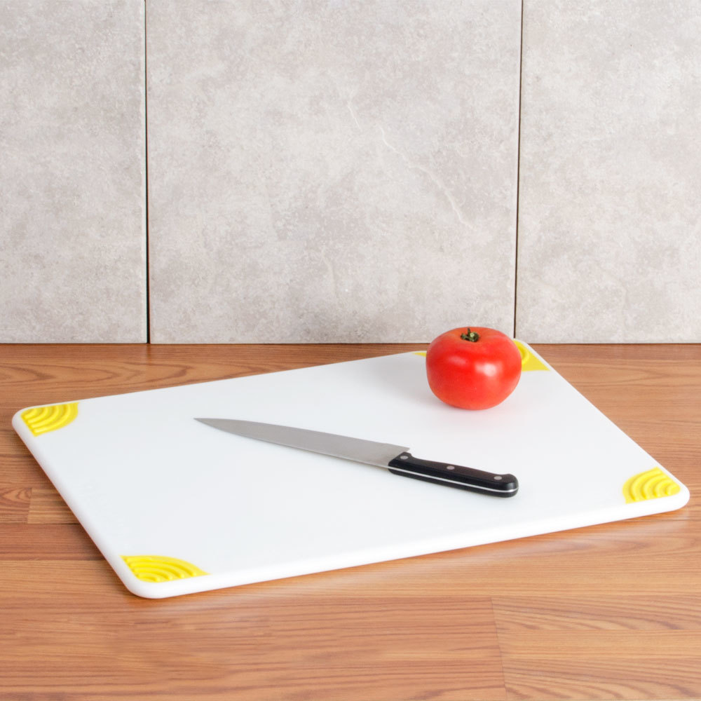 San jamar cbgw152012yl 15 x 20 x 1 2 saf t grip white for White cutting board used for