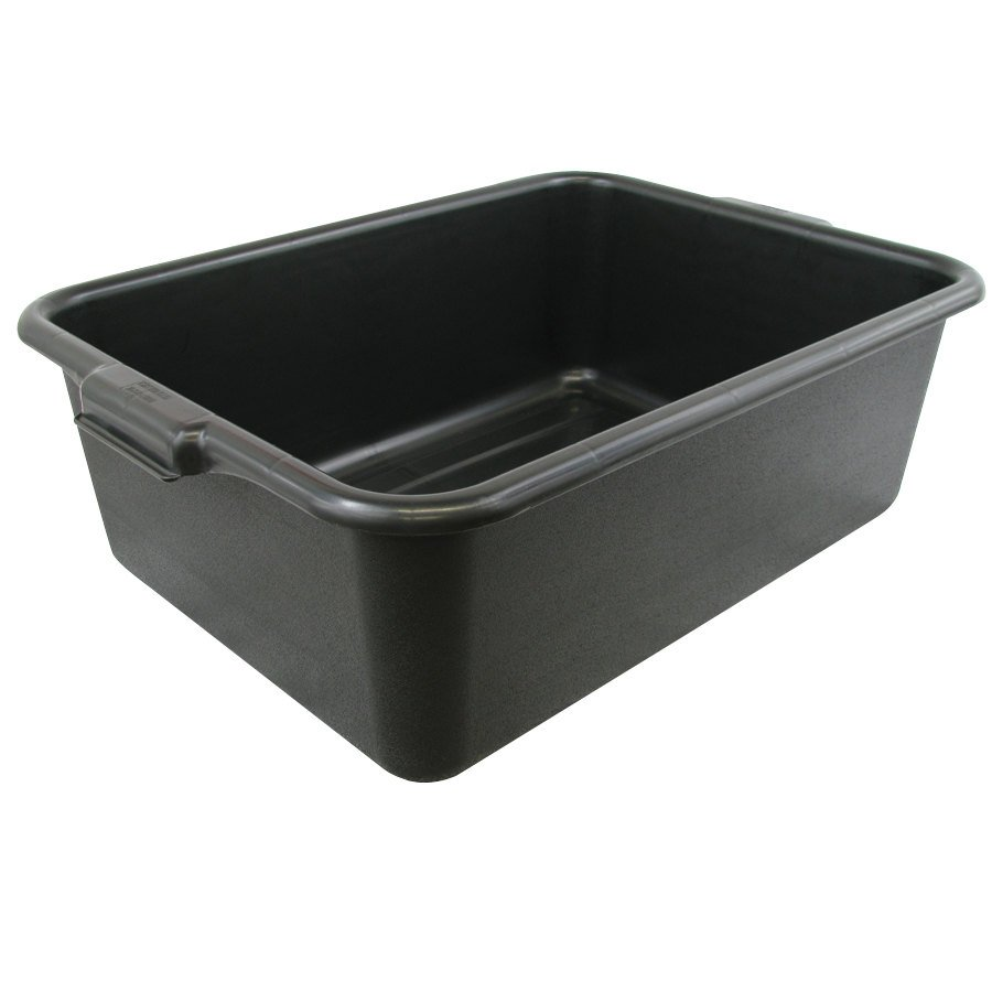 Black Polypropylene Bus Tub - 20 inch x 15 inch x 7 inch