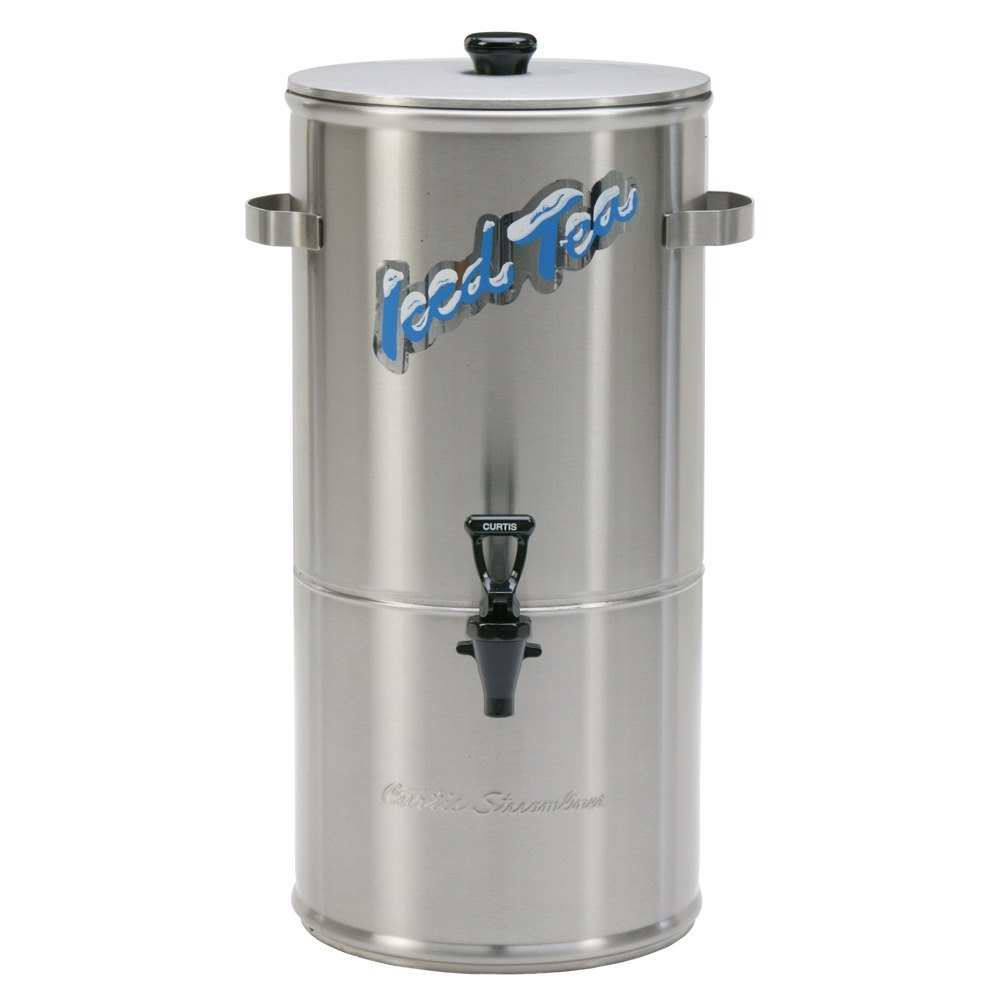 Wilbur Curtis Curtis TC-10H Round Stainless Steel 10 Gallon Iced Tea Dispenser with Plastic Lid at Sears.com