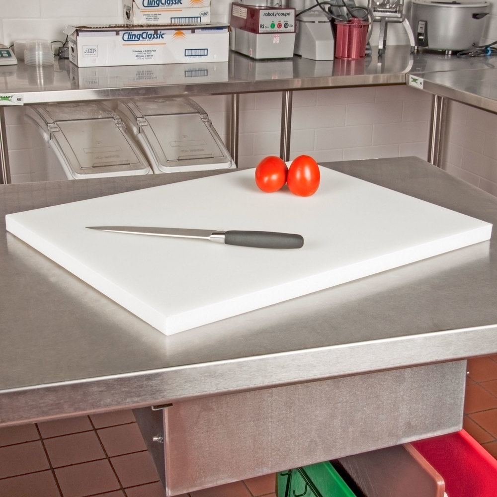 "San Jamar CB18241WH White 18"" x 24"" x 1"" Cutting Board"