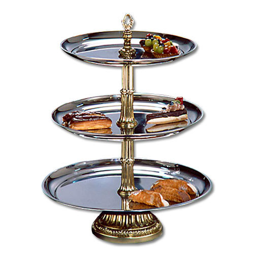 "Apex CLA20-1816-G Classic Series Three Tier Food Tray with Gold Column ? 27"" High at Sears.com"