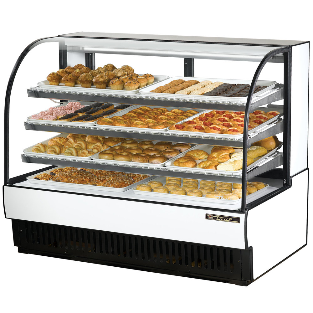 "True TCGD-59 59"" White Dry Bakery Display Case - 28 Cu. Ft."