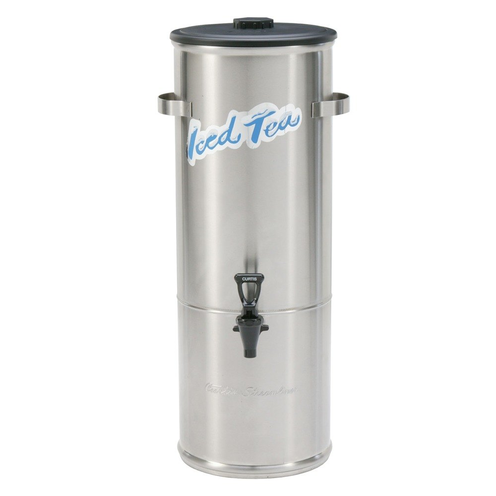 Wilbur Curtis Curtis TC-5H Round Stainless Steel 5 Gallon Iced Tea Dispenser with Plastic Lid at Sears.com