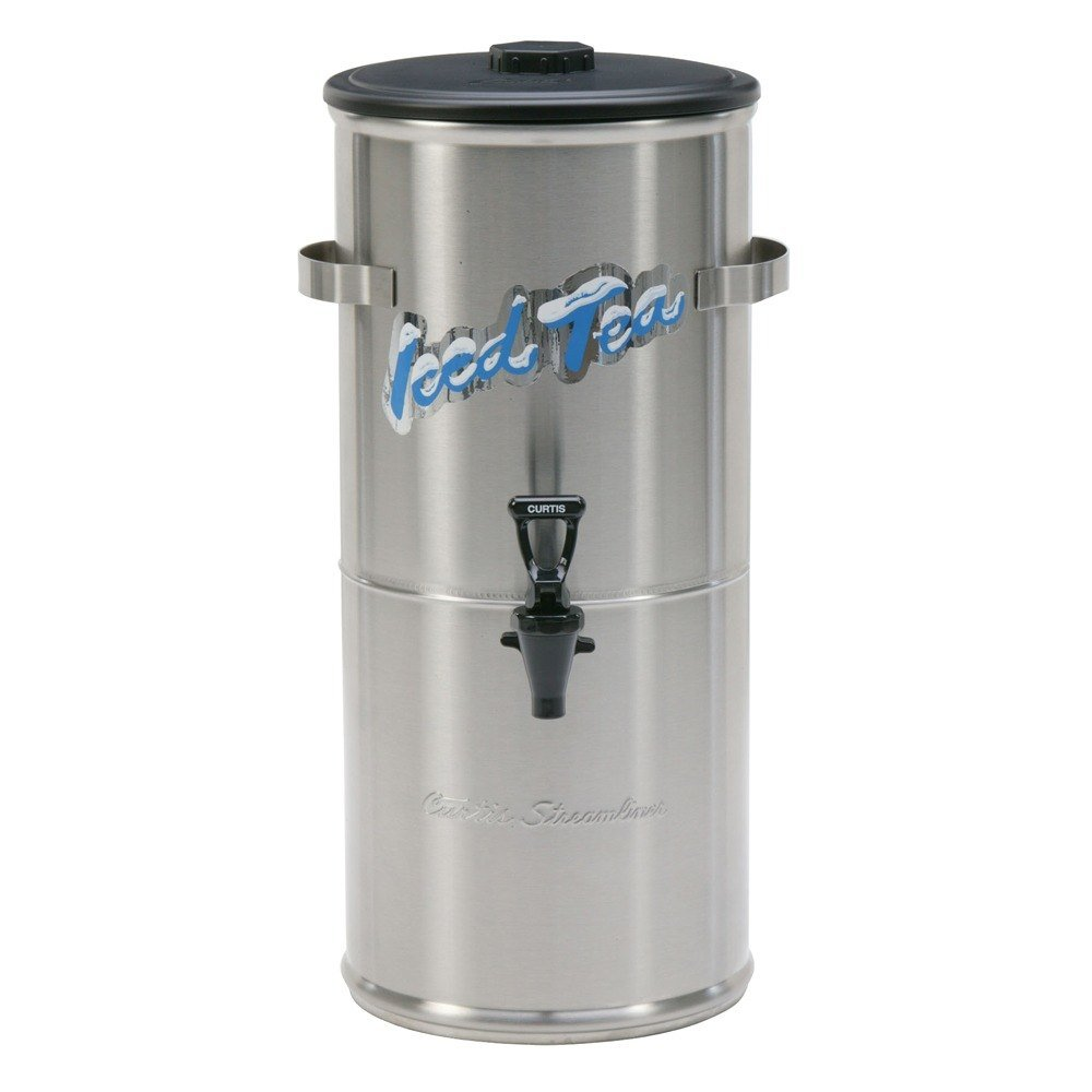 Wilbur Curtis Curtis TC-3H Round Stainless Steel 3.5 Gallon Iced Tea Dispenser with Plastic Lid at Sears.com