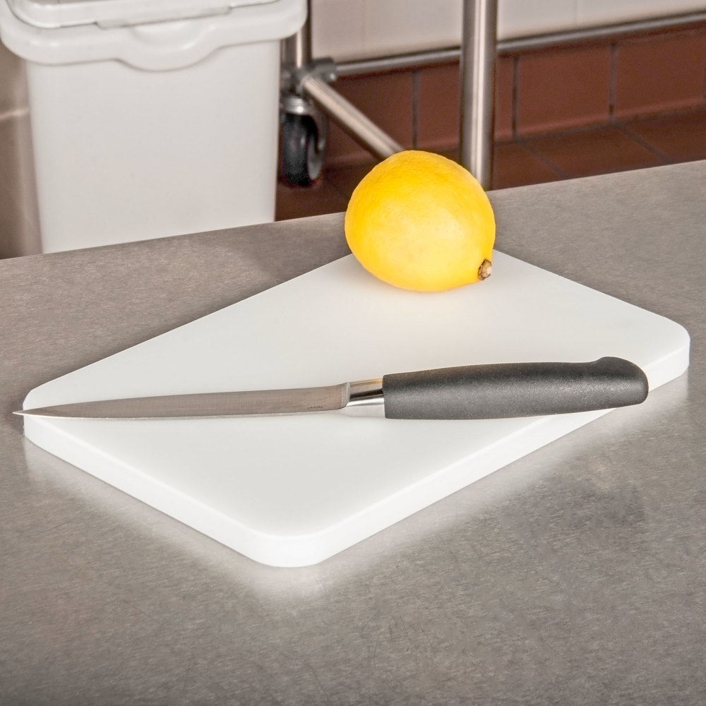 San jamar cb6912wh white 6 x 9 x 1 2 white bar cutting for White cutting board used for