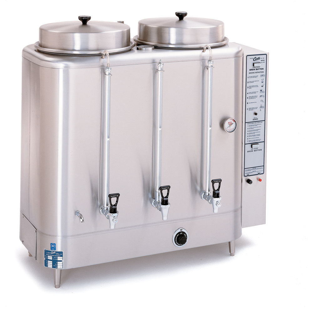 Curtis RU-1000-20 Automatic Twin 10 Gallon Coffee Urn - 208/220V