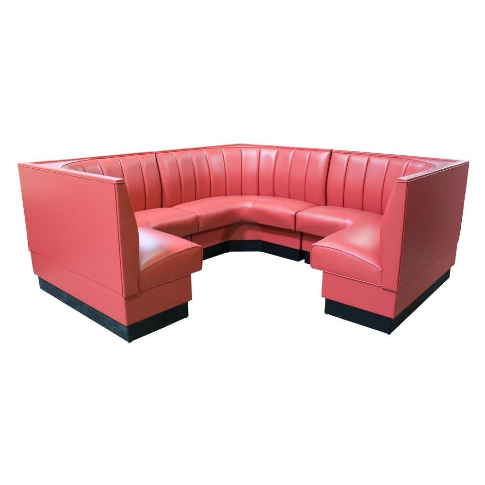 Tables & Seating AS-486-1/2 6 Channel Back Upholstered Corner Booth ...