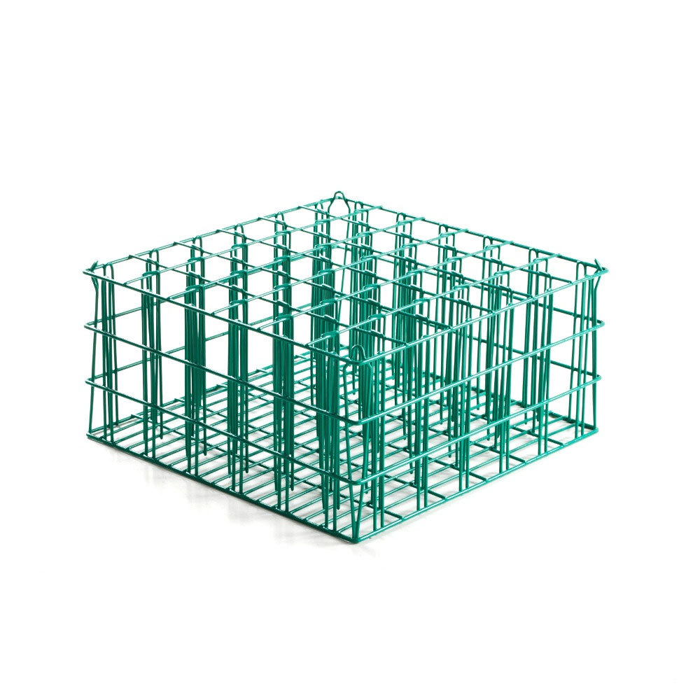 "36 Compartment Catering Glassware Basket - 2 7/8"" x 2 7/8"" x 5 1/4"" Compartments"