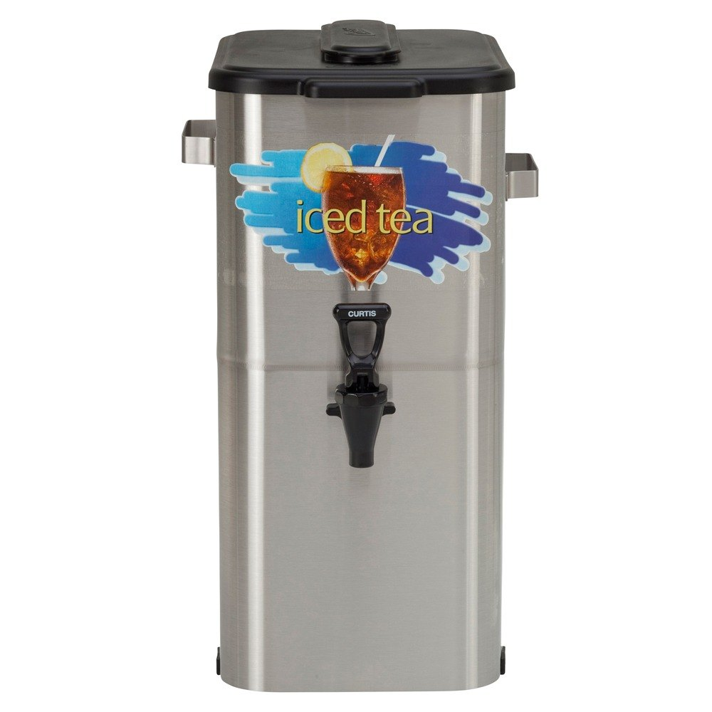 """Wilbur Curtis Curtis TCO419A000 4 Gallon 19"""" Stainless Steel Oval Iced Tea Dispenser with Plastic Lid at Sears.com"""