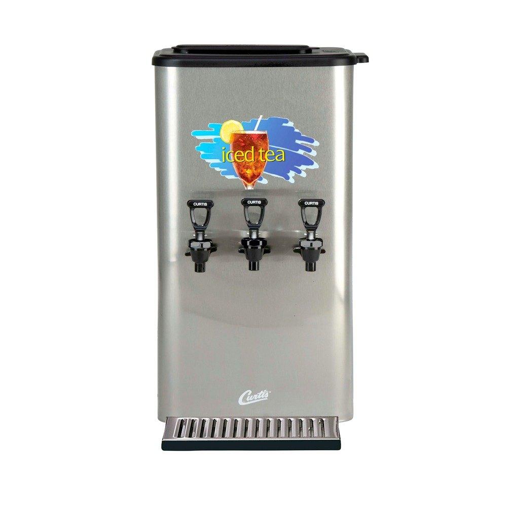 Wilbur Curtis Curtis TCC3N 3 Gallon Triple Faucet Narrow Tea Concentrate Dispenser with Plastic Lid at Sears.com