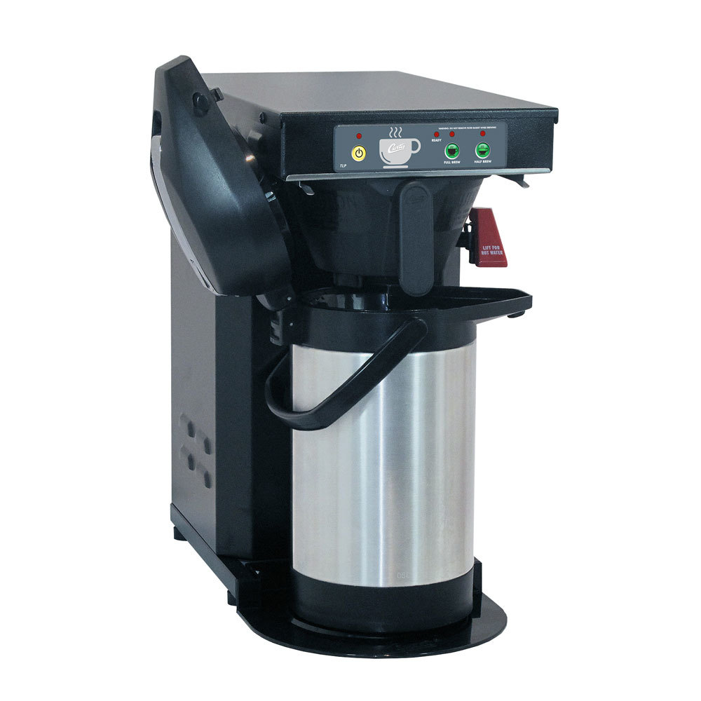 "Curtis TLP12A Low Profile 18"" Automatic Airpot Brewer with Stainless Steel Finish - 120V, 1500W"