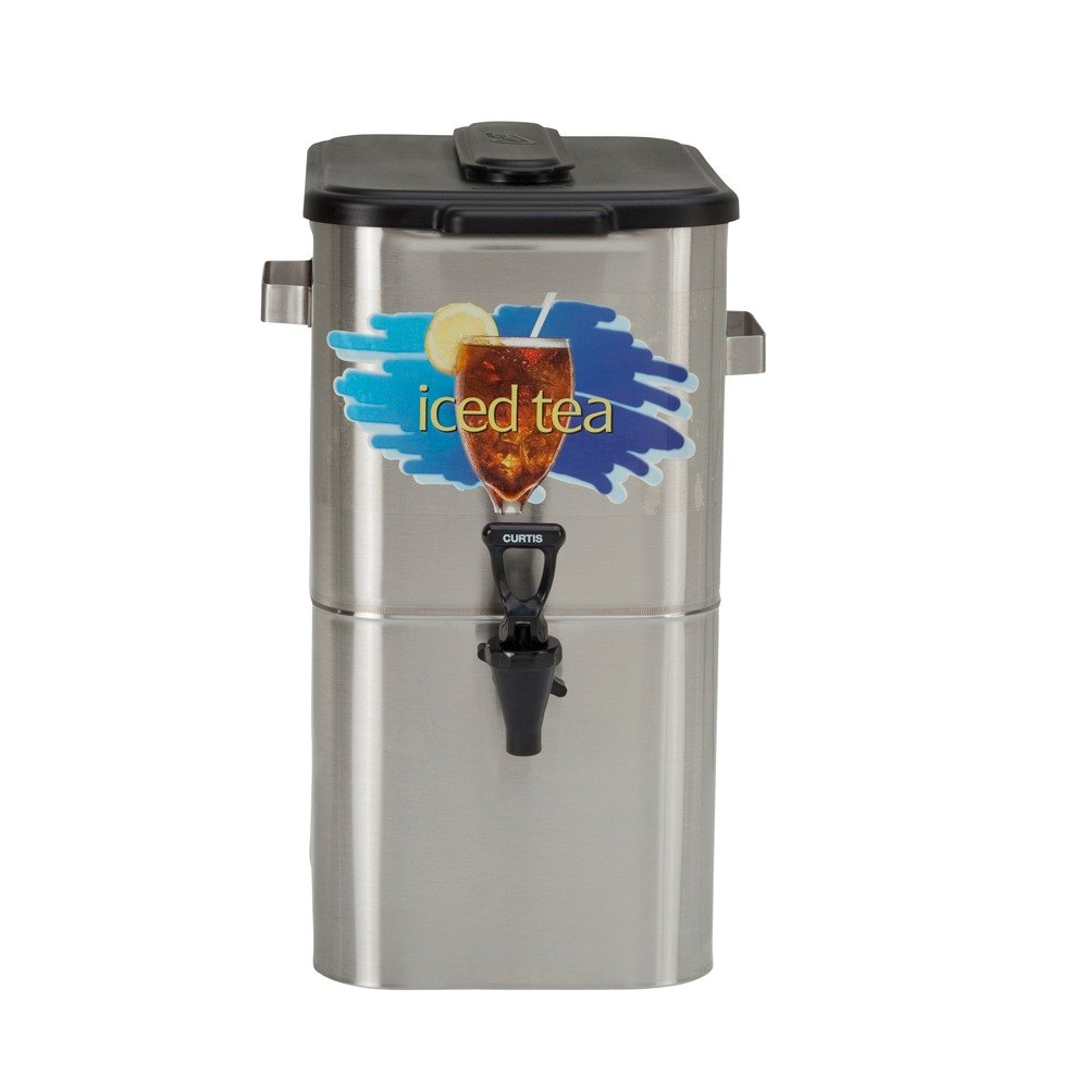 """Wilbur Curtis Curtis TCO417A000 4 Gallon 17"""" Stainless Steel Oval Iced Tea Dispenser with Plastic Lid at Sears.com"""