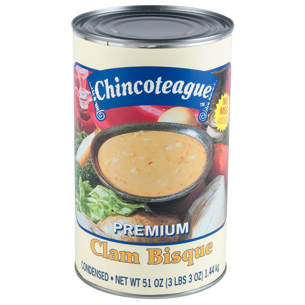Chincoteague Condensed Clam Bisque 6 - 51 oz. Cans / Case