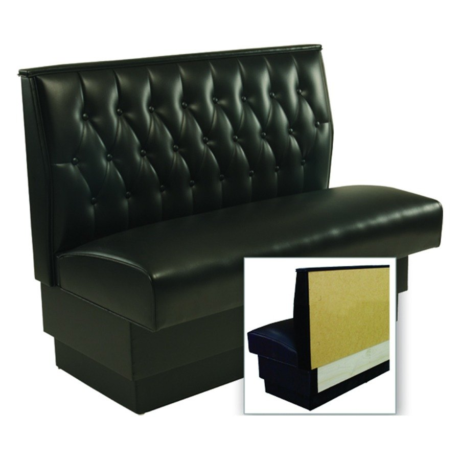 Cafe Bench Seating: American Tables & Seating AS-48T-Wall Button Tufted Back