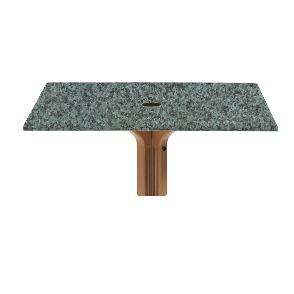 "Grosfillex 9987102536"" x 36"" Square Molded Melamine Outdoor Table Top with Umbrella Hole - Granite Green at Sears.com"
