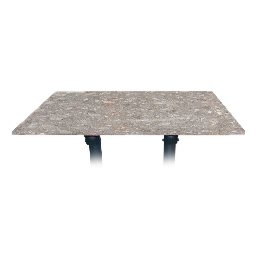 "Grosfillex 9985140248"" x 32"" Rectangular Molded Melamine Outdoor Table Top - Tokyo Stone at Sears.com"