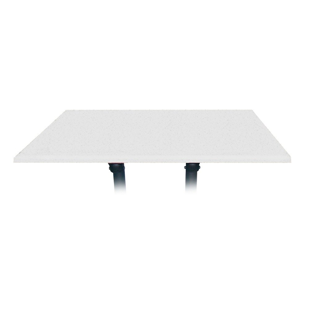 "Grosfillex 99851404 48"" x 32"" White Rectangular Molded Melamine Outdoor Table Top"