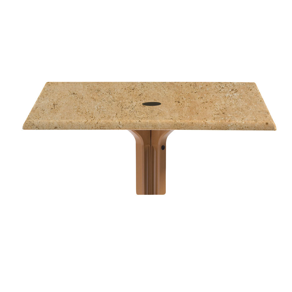 """Grosfillex 9987205836"""" x 36"""" Square Molded Melamine Outdoor Table Top with Umbrella Hole - Catalan at Sears.com"""