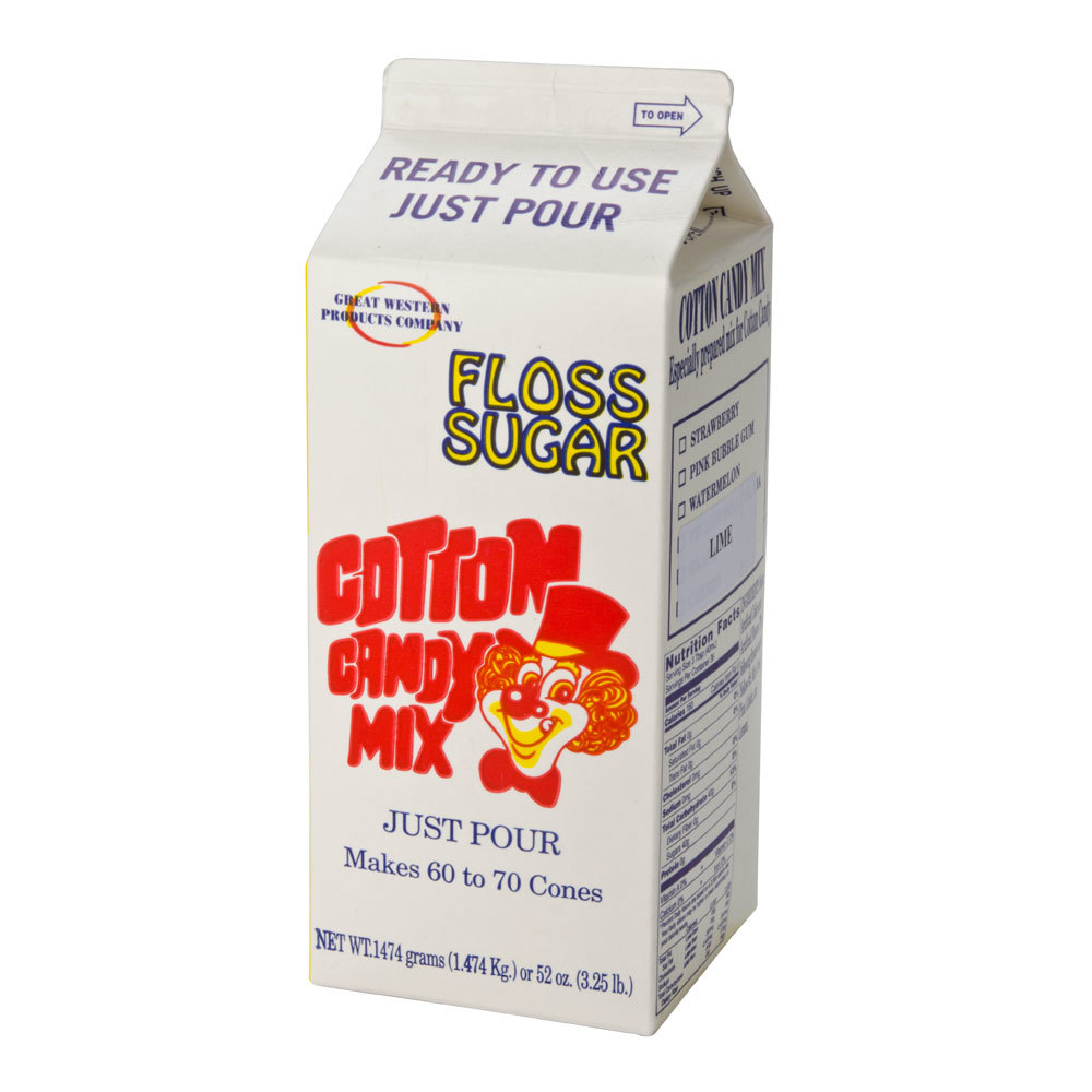 Great Western Green Lime Cotton Candy Floss Sugar 1/2 Gallon Cartons 6 / Case at Sears.com