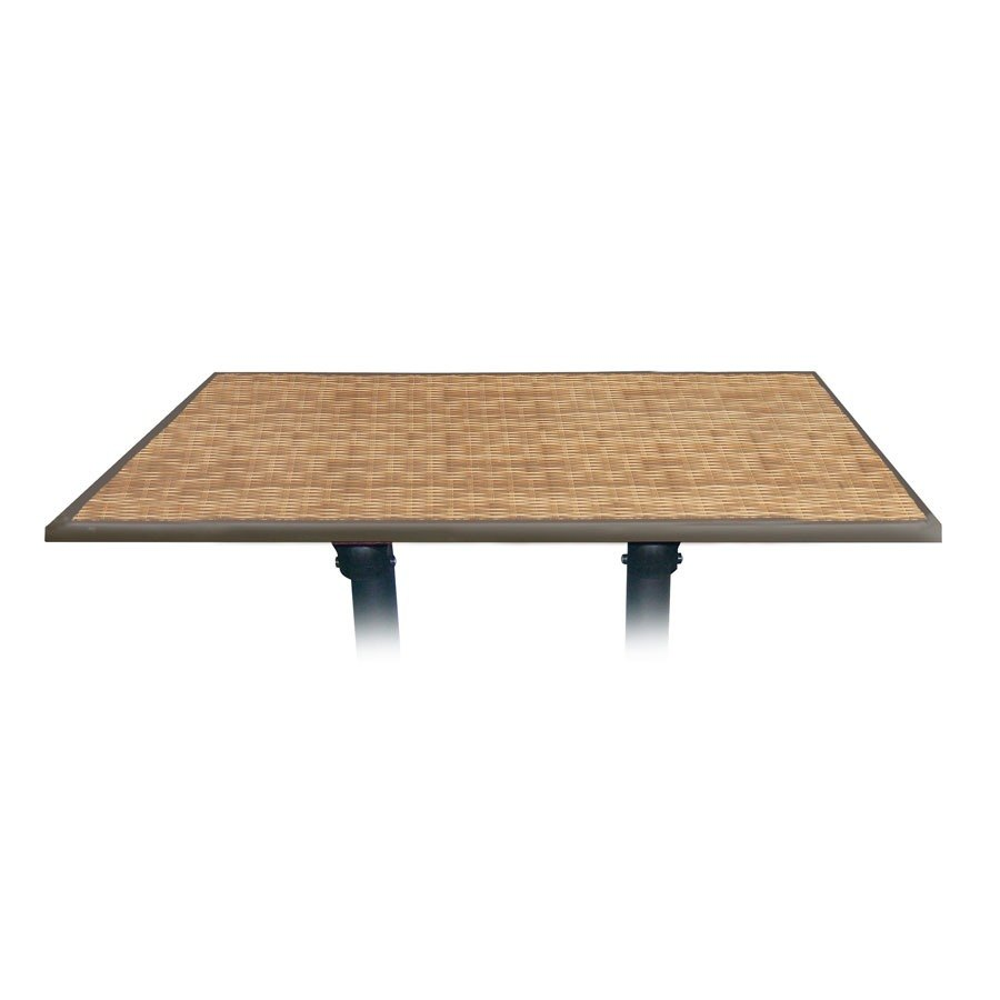 """Grosfillex 9985141848"""" x 32"""" Rectangular Molded Melamine Outdoor Table Top - Wicker at Sears.com"""