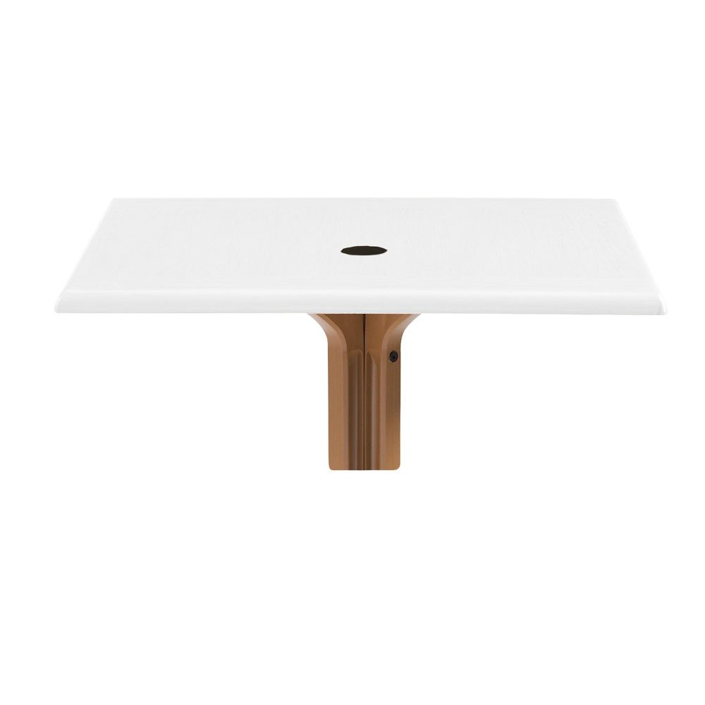 """Grosfillex 9987200436"""" x 36"""" Square Molded Melamine Outdoor Table Top with Umbrella Hole - White at Sears.com"""