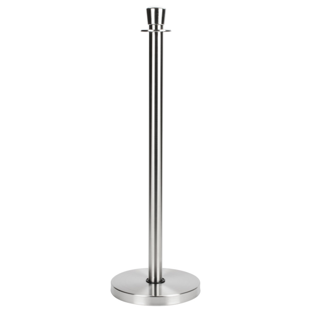 "Aarco Satin 40"" Rope Style Crowd Control / Guidance Stanchion"