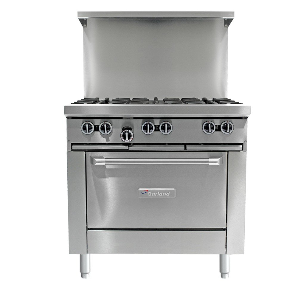 Garland G36-G36C 36 inch Gas Range with 36 inch Griddle and Convection Oven