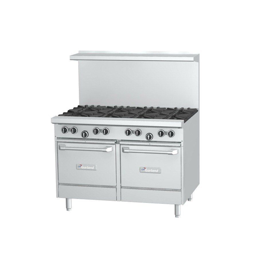 Garland G48-8CS 8 Burner 48 inch Gas Range with Convection Oven and Storage Base