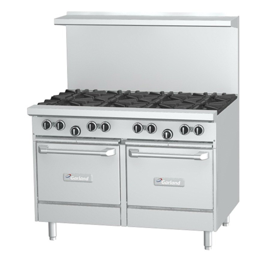 Garland G48-G48CS 48 inch Gas Range with 48 inch Griddle, Convection Oven and Storage Base