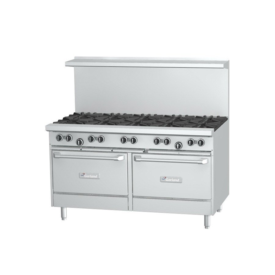 Garland G60-10CC 10 Burner 60 inch Gas Range with 2 Convection Ovens