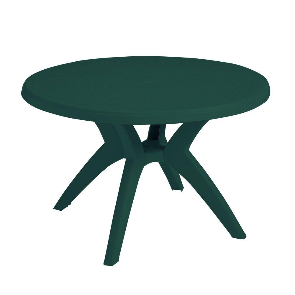 Table with Umbrella Hole  Main PictureGrosfillex US526778 Ibiza 46  Amazon Green Round Resin Pedestal  . Patio Furniture With Umbrella Hole. Home Design Ideas