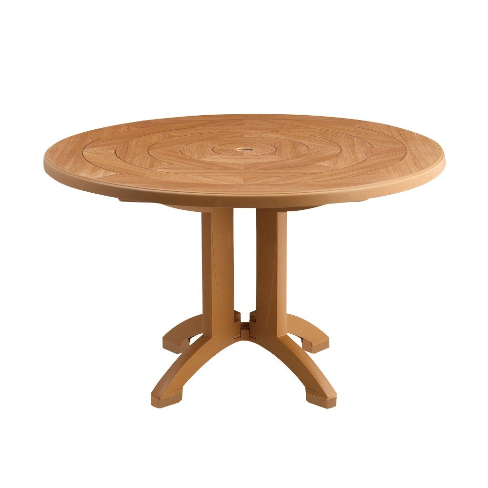 """Grosfillex US Atlantis 38"""" Round Resin Folding Table with"""