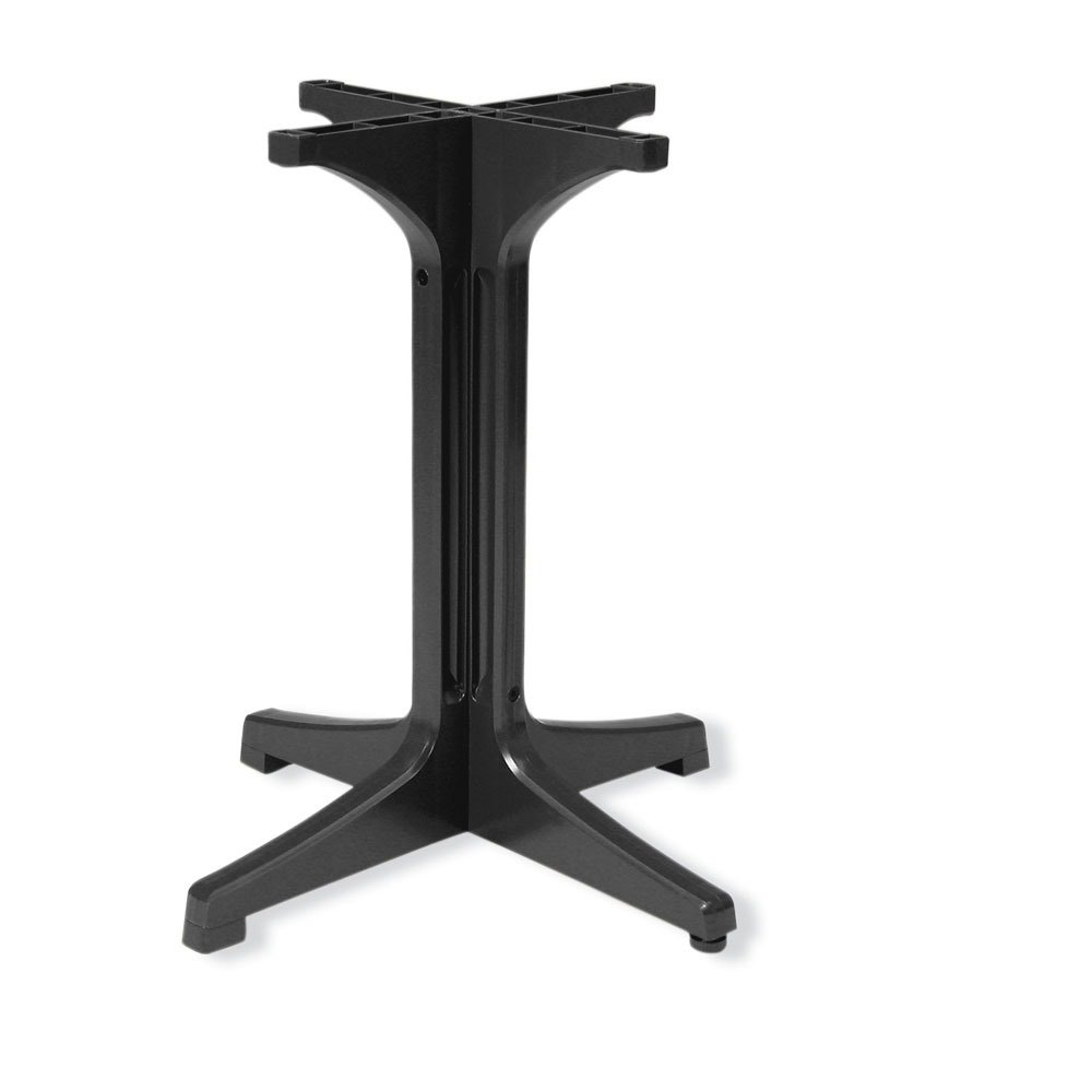 Grosfillex 55631802 Charcoal Resin Pedestal Outdoor Table Base