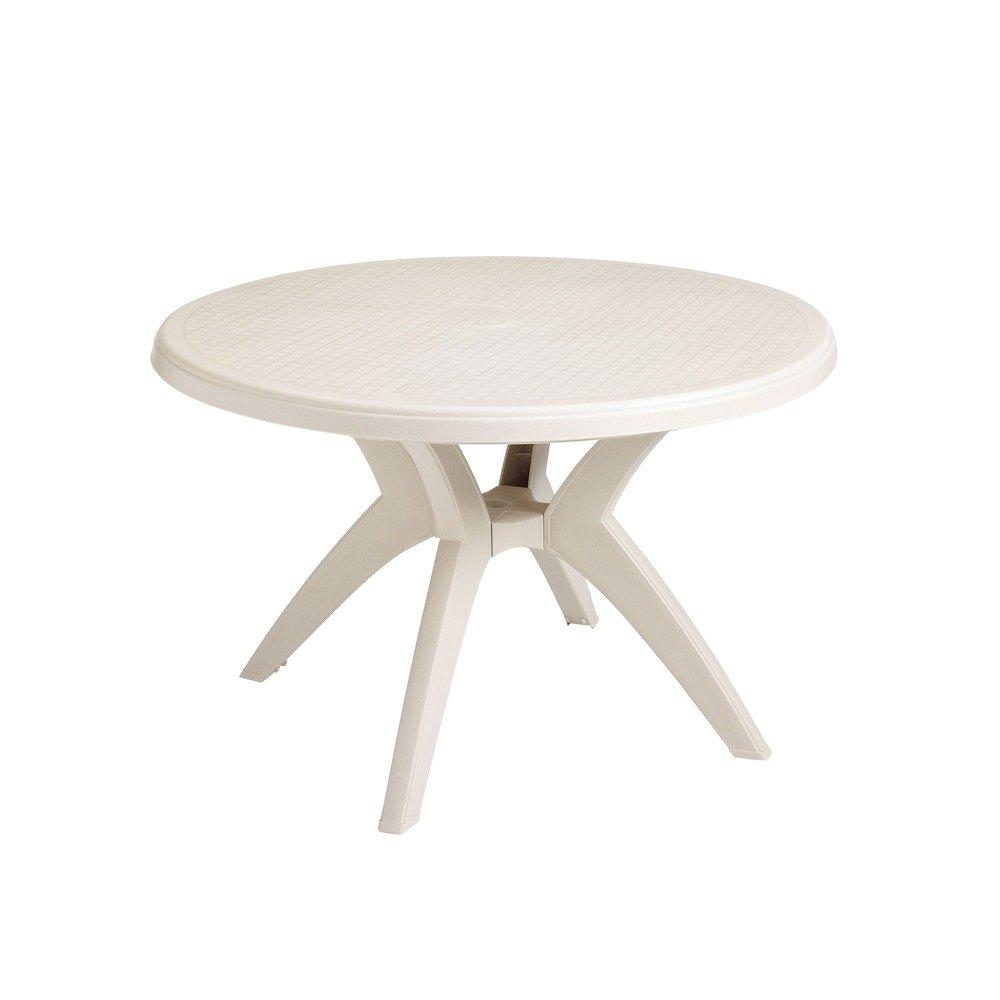 Table with Umbrella Hole  Main PictureGrosfillex US526766 Ibiza 46  Sandstone Round Resin Pedestal Table  . Patio Furniture With Umbrella Hole. Home Design Ideas