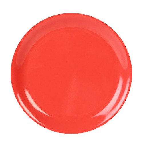 "9"" Orange Narrow Rim Melamine Plate 12 / Pack"