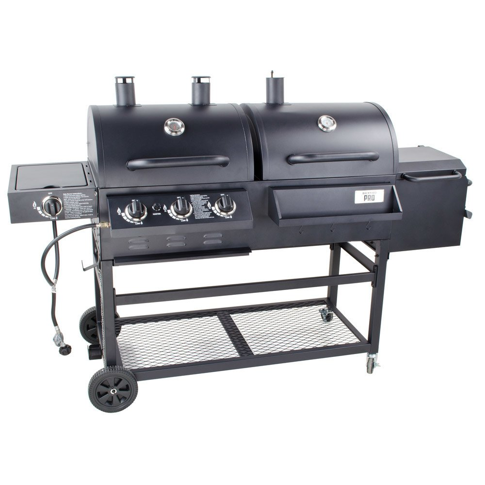 Backyard Grill Charcoal : Backyard Pro Portable Outdoor Gas and Charcoal Grill  Smoker