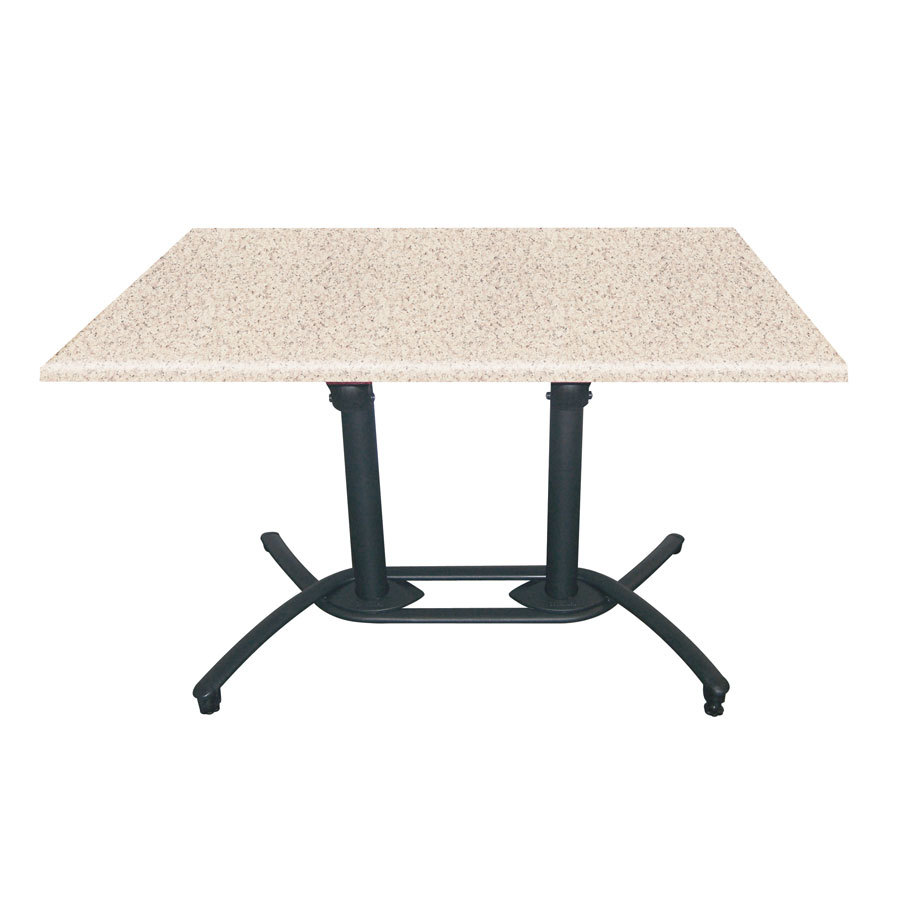 Grosfillex US719117 Aluminum Tilt Top Lateral Outdoor Table Base 100 - Black