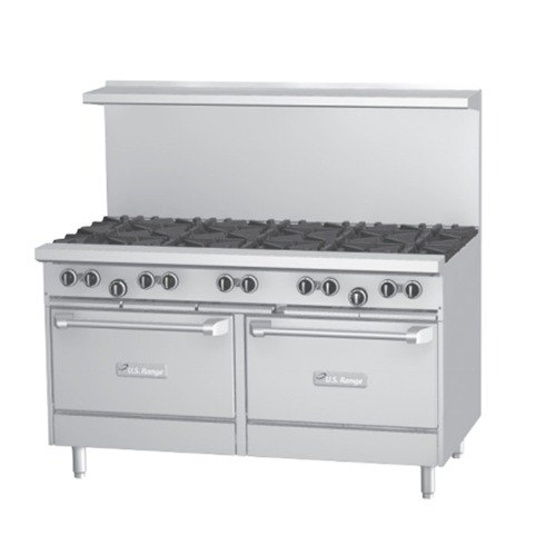 US Range U60-6G24RR 6 Burner 60 inch Gas Range with 24 inch Griddle and 2 Standard Ovens