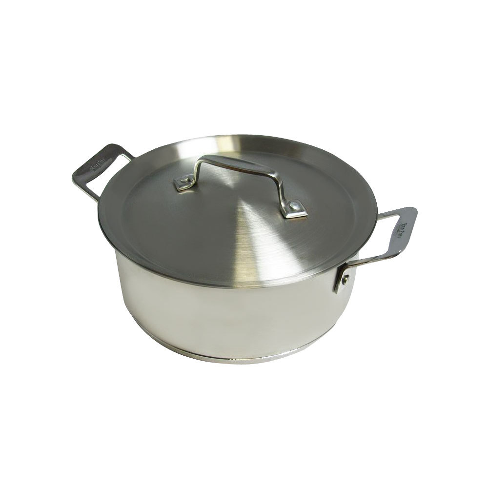 Bon Chef 60000HF Cucina 3 qt. Hammered Finish Stainless Steel Casserole with Lid