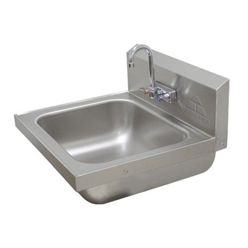 "Advance Tabco 7-PS-49 Hand Sink with Splash Faucet - 19"" x 19"""