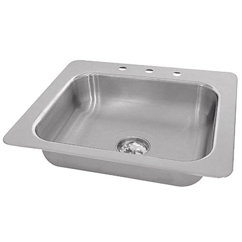 "Advance Tabco SS-1-2321-12 Smart Series Single Bowl Drop In Sink - 20"" x 16"" x 12"" Bowl"